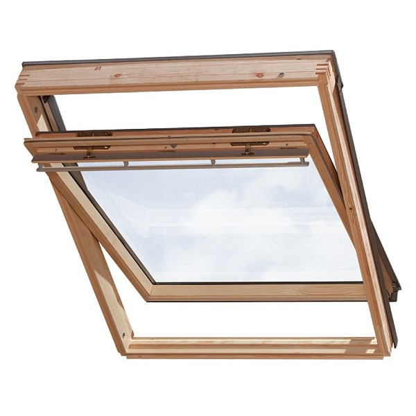 velux dachfenster holz mit eindeckrahmen 78x118 ggl m06 ebay. Black Bedroom Furniture Sets. Home Design Ideas